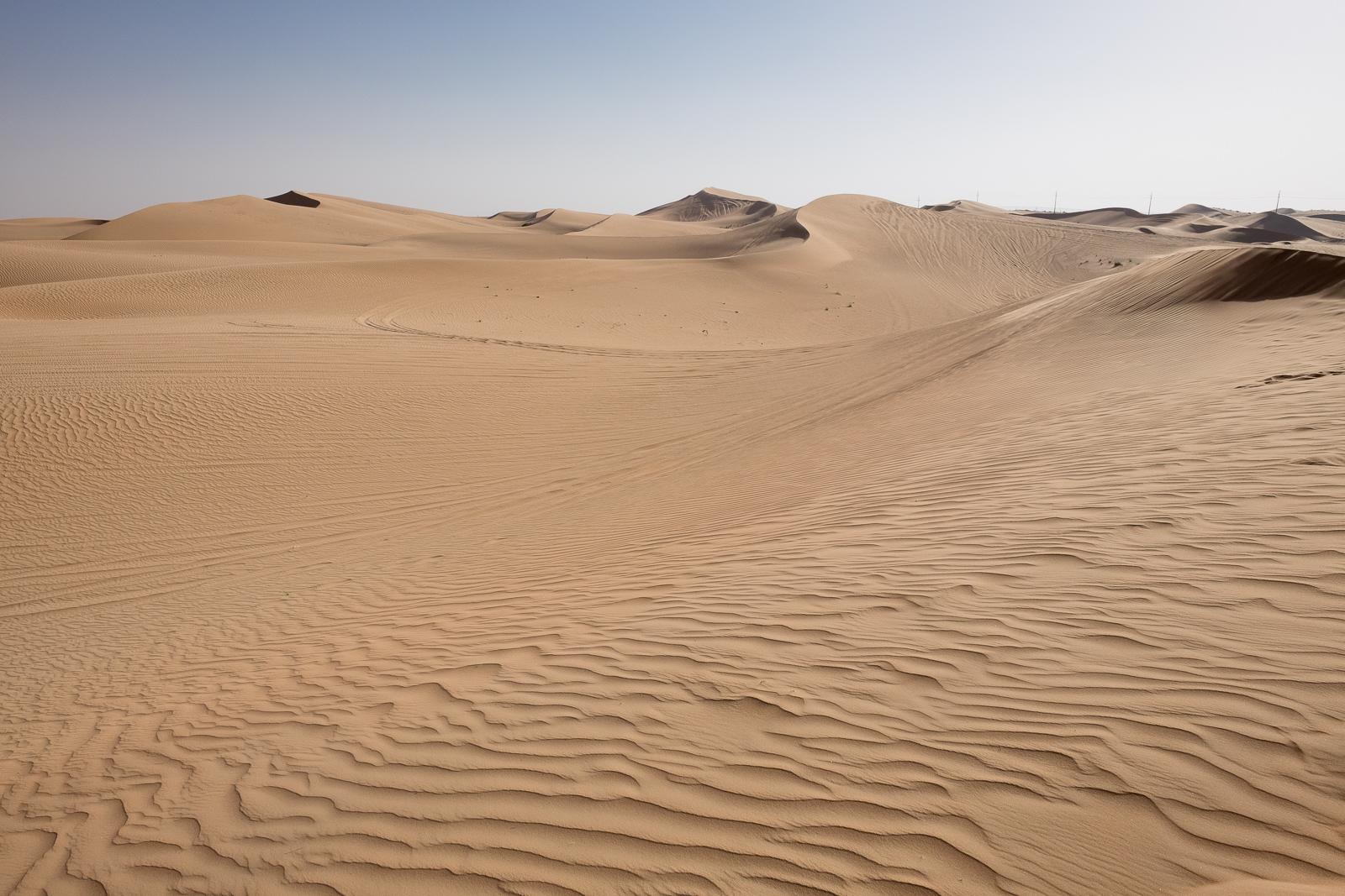 Sand dunes outside Abu Dhabi
