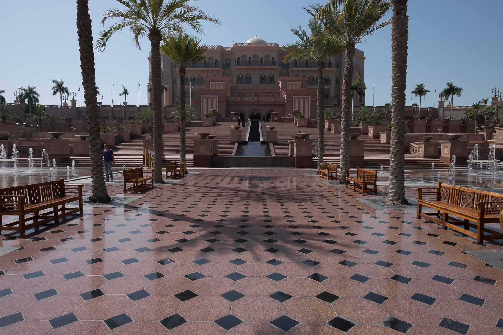 Exterior view of the Emirates Palace Hotel, Abu Dhabi