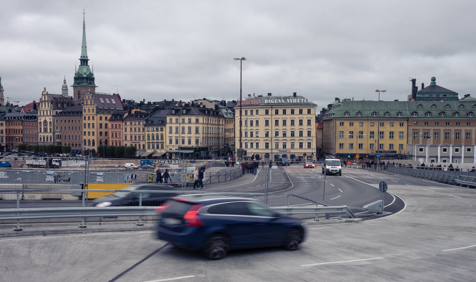 The view across Slussen back to Gamla stan, Stockholm